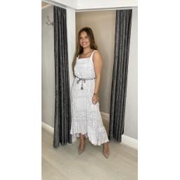 Lucy Cobb Polly Paisley Print Maxi Dress - White