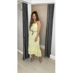 Lucy Cobb Polly Paisley Print Maxi Dress - Yellow