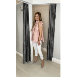 Lucy Cobb Shea Satin Swing Top - Baby Pink
