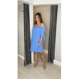 Lucy Cobb Clarity Cheesecloth Dress - Cornflower Blue