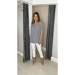 Lucy Cobb Sami Striped T Shirt  - Black