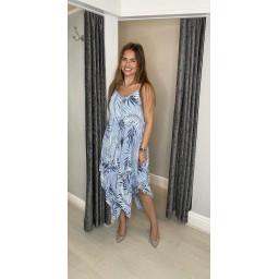 Lucy Cobb Fern Handkerchief Dress in Pale Blue