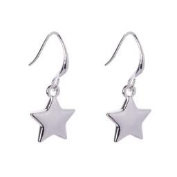 Lucy Cobb Jewellery Emily Silver Star Hook Earrings - Silver