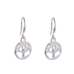 Lucy Cobb Jewellery Emily Tree Of Life Hook Earrings - Silver