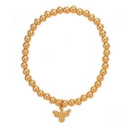 Lucy Cobb Jewellery Emily Bee Elasticated Bracelet - Gold