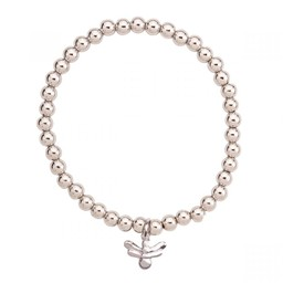 Lucy Cobb Jewellery Emily Bee Elasticated Bracelet in Silver