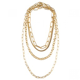 Lucy Cobb Jewellery Alesha Multi Chain-Link Short Necklace - Gold