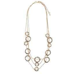 Lucy Cobb Jewellery Zaha Multi-row Necklace - Gold
