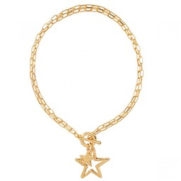 Lucy Cobb Jewellery Eternal Star Chain-Link Necklace - Gold
