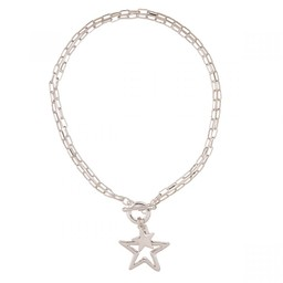 Lucy Cobb Jewellery Eternal Star Chain-Link Necklace in Silver
