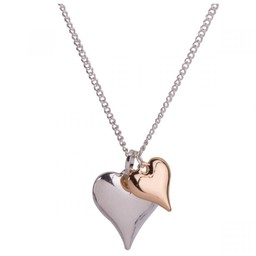 Lucy Cobb Jewellery Sweetheart Mixed Short Necklace - Silver Gold