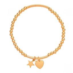 Lucy Cobb Jewellery EmilyHeart Star Elasticated Bracelet - Gold