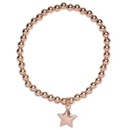 Lucy Cobb Jewellery Emily Star Pendant Elasticated Bracelet - Gold