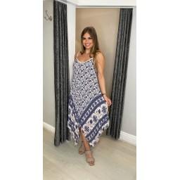 Lucy Cobb Indie Handkerchief Dress in Pale Blue
