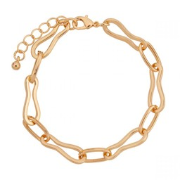 Lucy Cobb Jewellery Alesha Chain-Link Abstract Clasp Bracelet - Gold