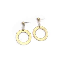 Lucy Cobb Jewellery Textured Oval Hoop Earrings 1419 - Gold