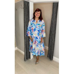 Lucy Cobb Gina Tiered Maxi Dress - Floral