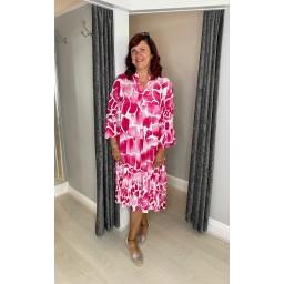 Lucy Cobb Gina Tiered Maxi Dress - Fuchsia