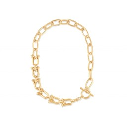 Big Metal London Margaux Statement Chunky Chain Necklace - Gold
