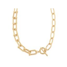 Big Metal London Renata Statement Chunky Chain Necklace  - Gold