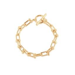 Big Metal London Renata Statement Chunky Chain Bracelet - Gold