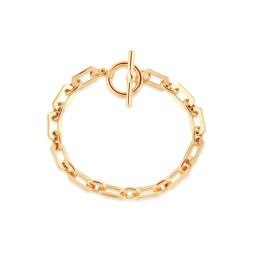 Big Metal London Arlette Statement Chunky Chain Bracelet - Gold