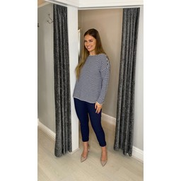 Lucy Cobb Cara Cashmere Mix Jumper  in French Navy