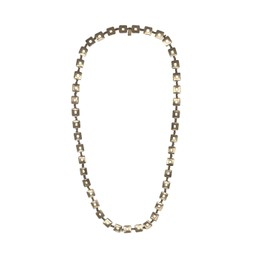 Lucy Cobb Jewellery Square Chain Long Necklace 1448 - Gold