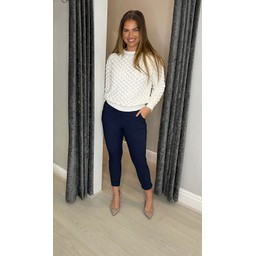 Lucy Cobb Salma Supersoft Jumper in White