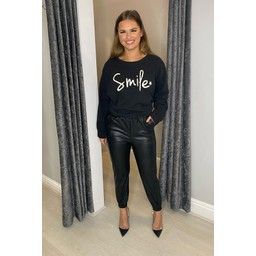 Lucy Cobb Smile Sweatshirt - Black
