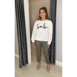 Lucy Cobb Smile Sweatshirt - White