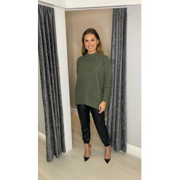 Lucy Cobb Jody Cable Knit Jumper in Khaki