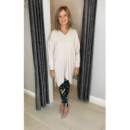 Lucy Cobb Tyla Knitted Tunic - Oatmeal