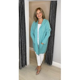 Lucy Cobb Hollie Hooded Cardigan in Mint