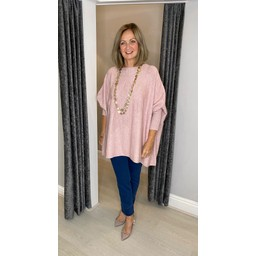 Lucy Cobb Sydni Oversized Star Jumper in Baby Pink