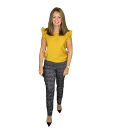 Robell Trousers Bella Geometric Jacquard Trousers - Black Mix