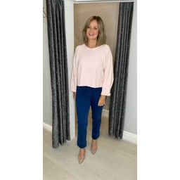 Lucy Cobb Bree Box Jumper in Baby Pink