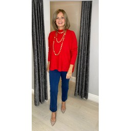 Lucy Cobb Janet Jumper in Red