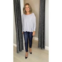 Lucy Cobb Tasmin Two Pocket Jumper - Silver Grey