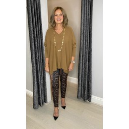 Lucy Cobb Olivia Oversized Jumper in Camel