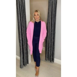 Lucy Cobb Hollie Hooded Cardigan in Pink