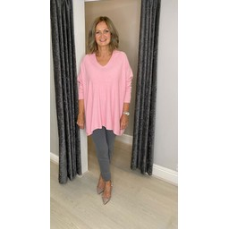 Lucy Cobb Olivia Oversized Jumper in Baby Pink