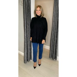 Lucy Cobb Cleo Cable Knit Jumper in Black