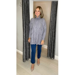 Lucy Cobb Cleo Cable Knit Jumper in Mid Grey