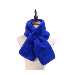 Lucy Cobb Accessories Faye Faux Fur Scarf in Royal