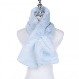 Lucy Cobb Accessories Faye Faux Fur Scarf in Baby Blue
