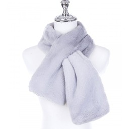 Lucy Cobb Accessories Faye Faux Fur Scarf in Silver