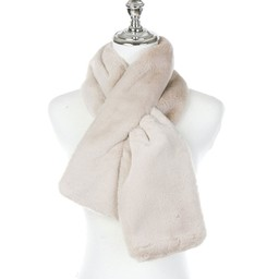 Lucy Cobb Accessories Faye Faux Fur Scarf in Stone