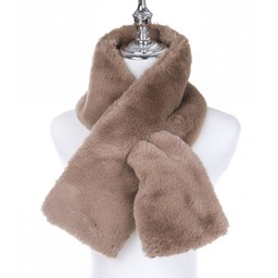 Lucy Cobb Accessories Faye Faux Fur Scarf in Taupe