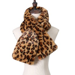 Lucy Cobb Accessories Leyla Leopard Print Scarf in Brown
